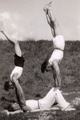 47-0018 Onbekende jongeman, Johan Christiaan August Wilhelm Hoek jr. (Jan) en Jacob Hoek (Jaap), ca. 1950